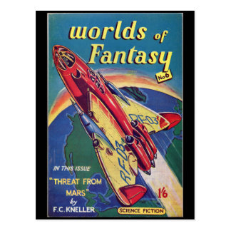 Worlds of Fantasy No. 6 _August 1952_ Bri Pulp Art Postcard