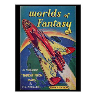 Worlds of Fantasy No. 6 _August 1952_ Bri Pulp Art Poster