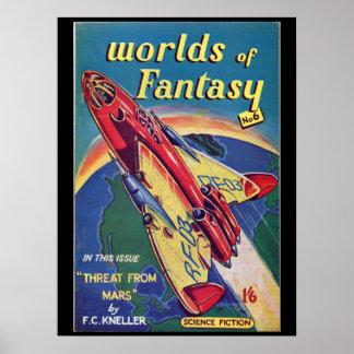 Worlds of Fantasy No. 6 _August 1952_ Bri Pulp Art Poster