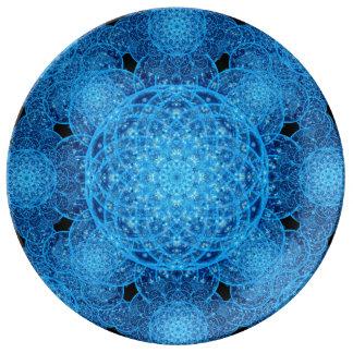 Worlds of Ice Mandala Dinner Plate