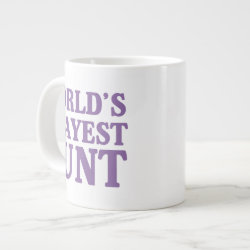 Jumbo Mug with World's Okayest Aunt design