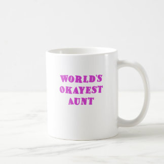 Worlds Okayest Aunt Coffee Mugs