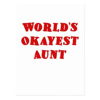 Worlds Okayest Aunt Postcard