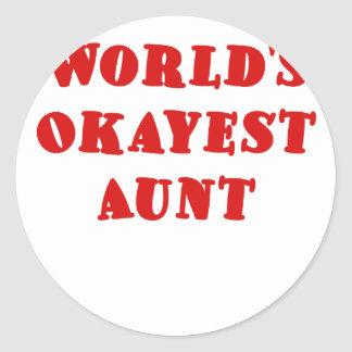 Worlds Okayest Aunt Sticker