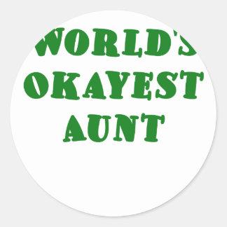 Worlds Okayest Aunt Stickers