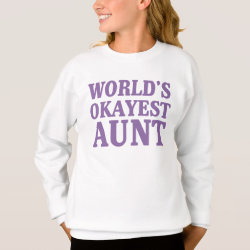 Girls' Hanes ComfortBlend® Sweatshirt with World's Okayest Aunt design