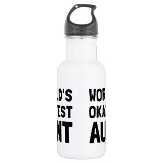 Worlds Okayest Aunt Water Bottle