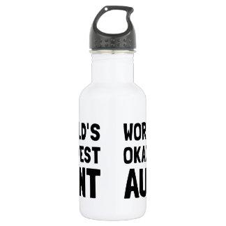 Worlds Okayest Aunt Water Bottle
