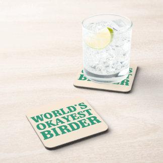 World's Okayest Birder Drink Coaster