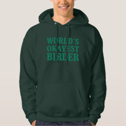 Men's Basic Hooded Sweatshirt with World's Okayest Birder design