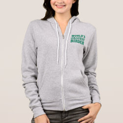 Women's Bella+Canvas Full-Zip Hoodie with World's Okayest Birder design