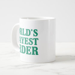 Jumbo Mug with World's Okayest Birder design