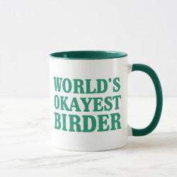 Ringer Combo Mug with World's Okayest Birder design