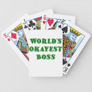 Worlds Okayest Boss Poker Cards