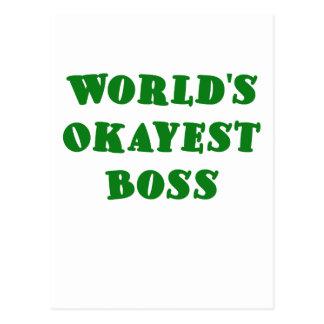 Worlds Okayest Boss Postcard