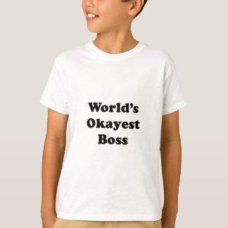 Worlds Okayest Boss T-Shirt