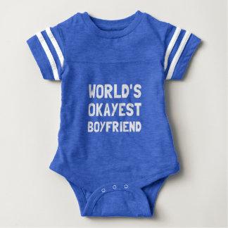 Worlds Okayest Boyfriend Baby Bodysuit