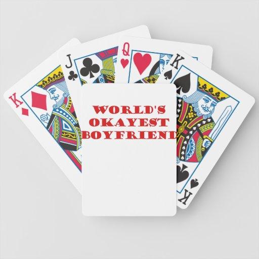 Worlds Okayest Boyfriend Card Decks
