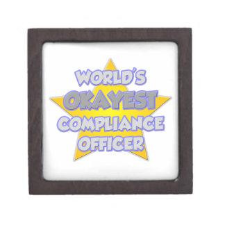 World's Okayest Compliance Officer .. Joke Premium Gift Boxes