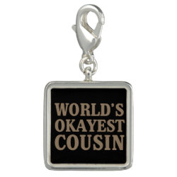 World's Okayest Cousin Charm