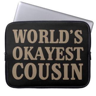 World's Okayest Cousin Laptop Sleeve