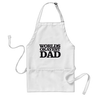 Worlds Okayest Dad Adult Apron