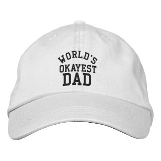 World's Okayest Dad Father's Day Funny hat for Dad