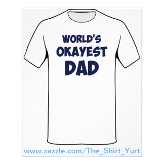 World's Okayest Dad Flyer