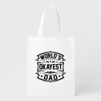 World's Okayest Dad Grocery Bag