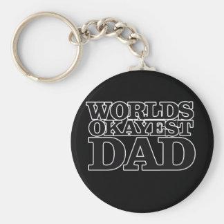 Worlds Okayest Dad Keychain