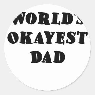 Worlds Okayest Dad Stickers