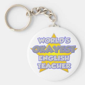 World's Okayest English Teacher .. Joke Keychain
