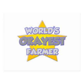 World's Okayest Farmer ... Joke Postcard