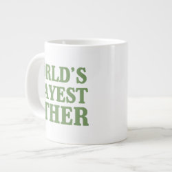 Jumbo Mug with World's Okayest Father design