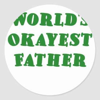 Worlds Okayest Father Sticker