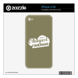 World's Okayest Fisherman Decal For The iPhone 4S