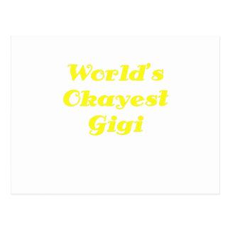 Worlds Okayest Gigi Post Card