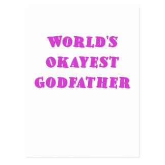 Worlds Okayest Godfather Postcard