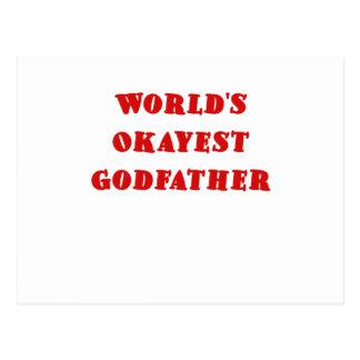 Worlds Okayest Godfather Post Cards