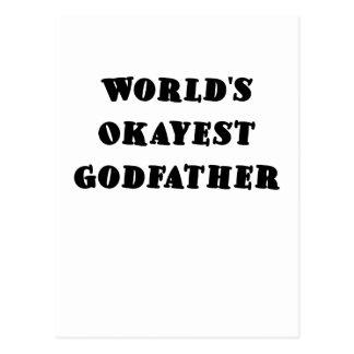 Worlds Okayest Godfather Postcards