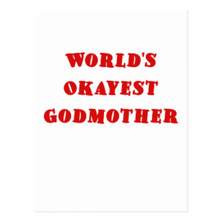 Worlds Okayest Godmother Postcard