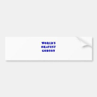 Worlds Okayest Godson Bumper Sticker