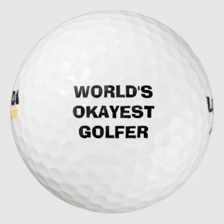 World's Okayest Golfer Golf Ball Set