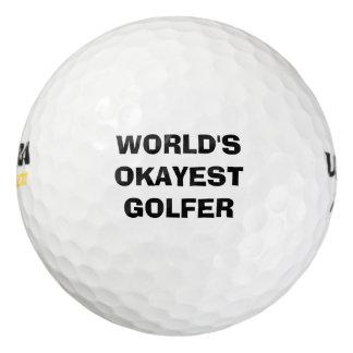 World's Okayest Golfer Golf Ball Set