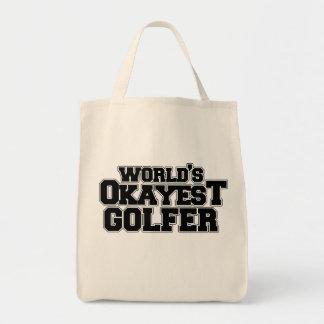 World's okayest golfer tote bag