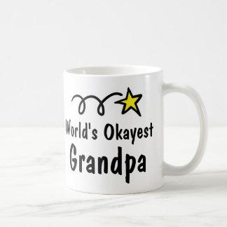 World's Okayest Grandpa Coffee Mug Gift