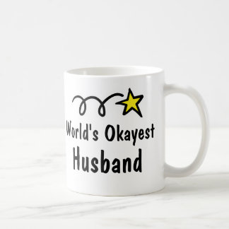 World's Okayest Husband Coffee Mug Gift