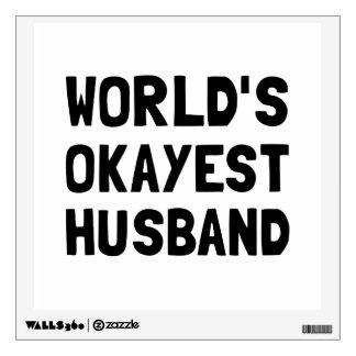 Worlds Okayest Husband Wall Decal