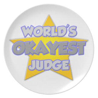 World's Okayest Judge ... Joke Dinner Plate