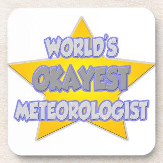 World's Okayest Meteorologist ... Joke Drink Coaster